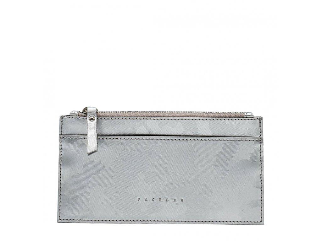 Kožená peněženka NORA stříbrná maskáčová