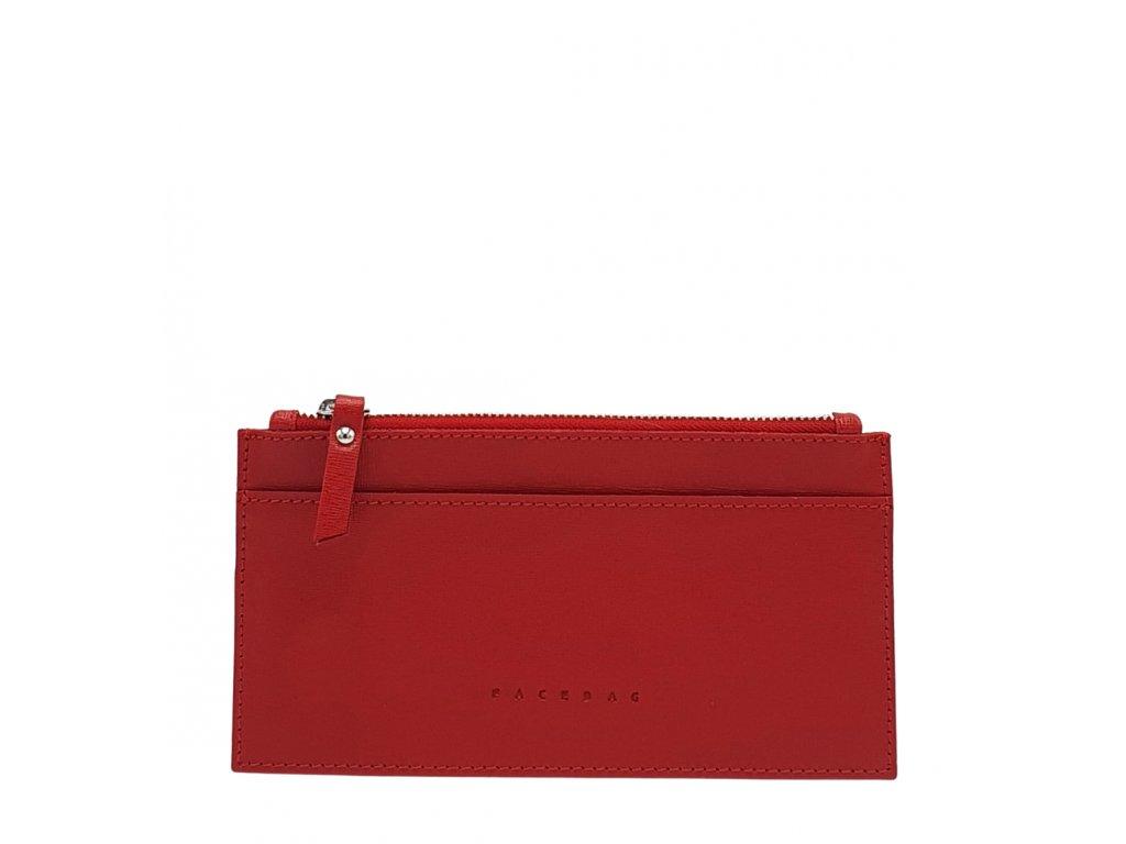 Kožená peněženka NORA červená