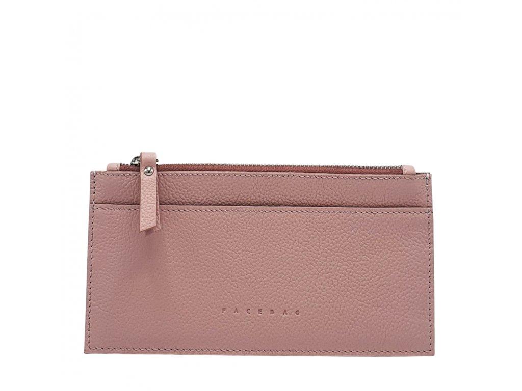 Kožená peněženka NORA liliová oboustranná