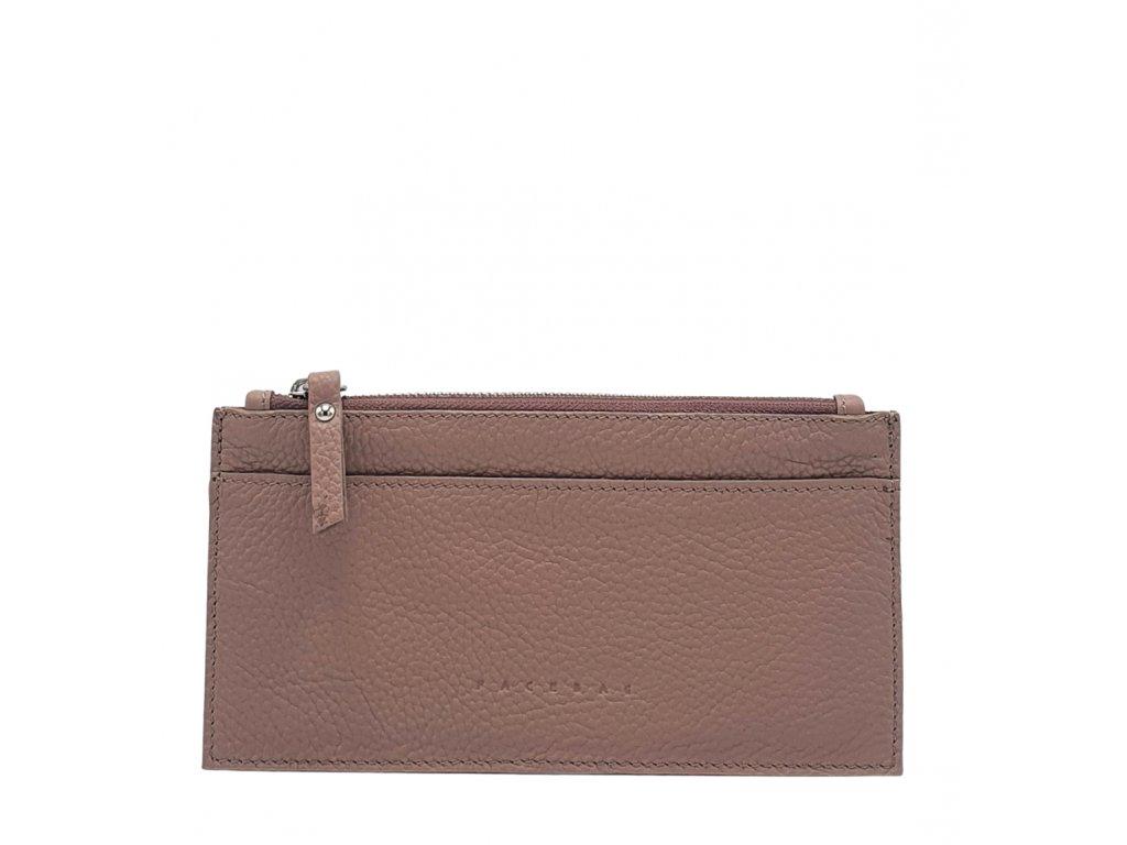 Kožená peněženka NORA pudrová