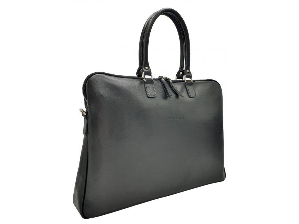 Kožená kabelka Gaya XL černá