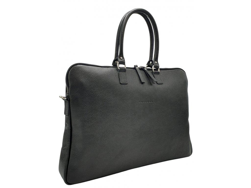 Kožená kabelka Gaya XL černá dolaro