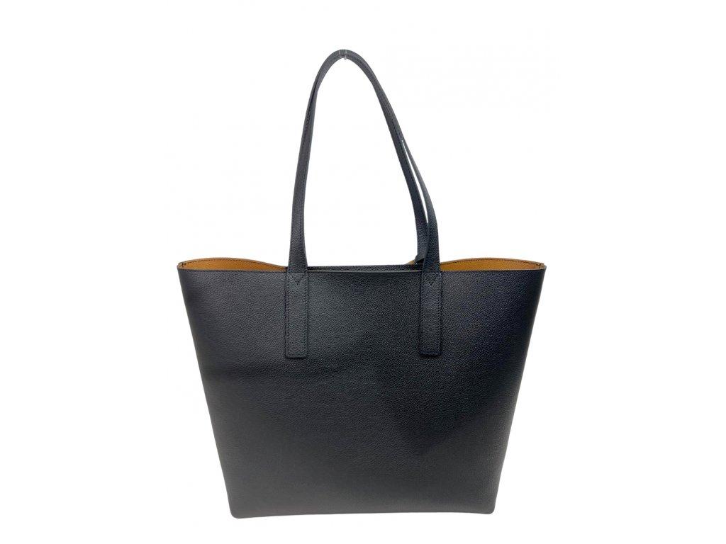 kožená kabelka 2v1 Calais černá oboustranná