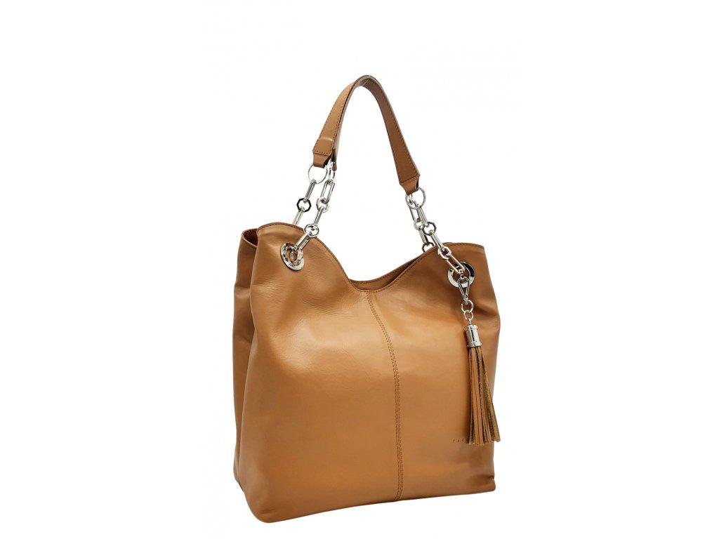 Kožená kabelka Agata cuoio hladká