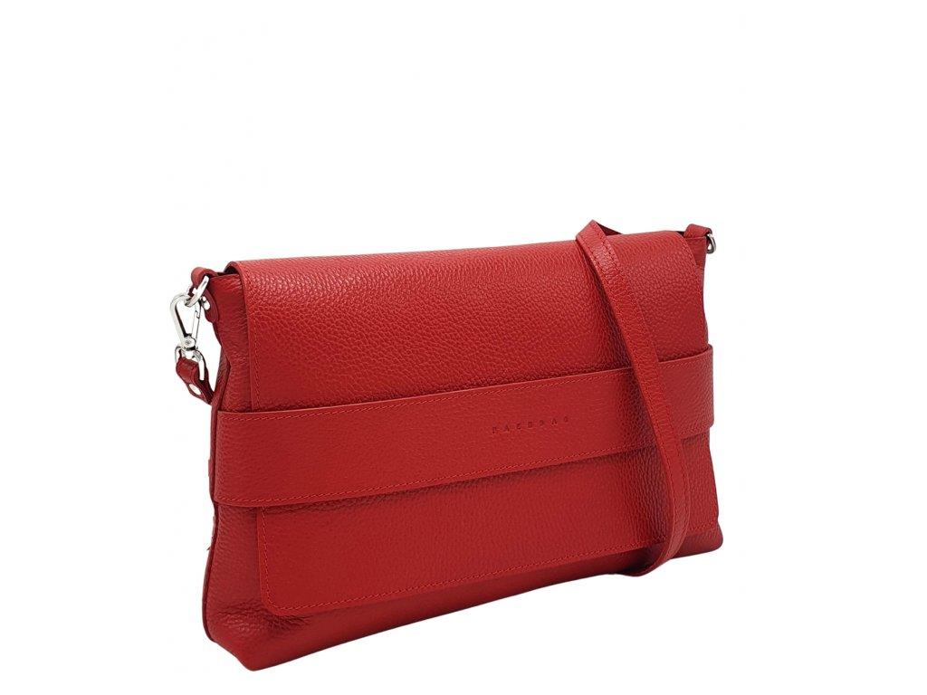 Kožená crossbody kabelka Fille červená