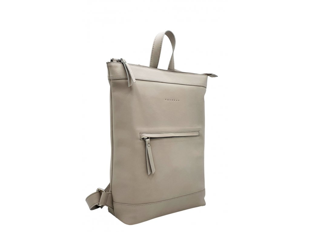 Kožený batoh Lucien světle šedý