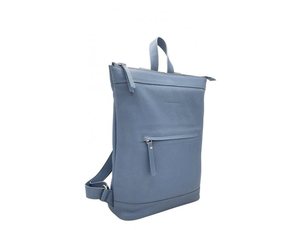 Kožený batoh Lucien modrý