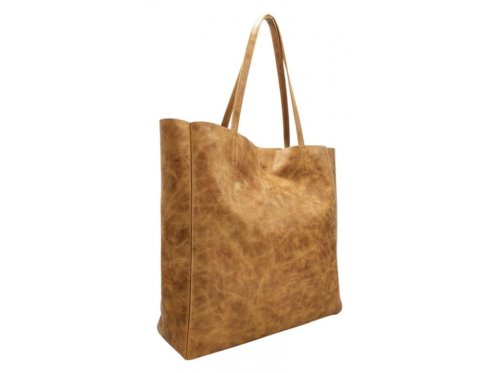 Kožená kabelka přes rameno Marly hnědá vintage