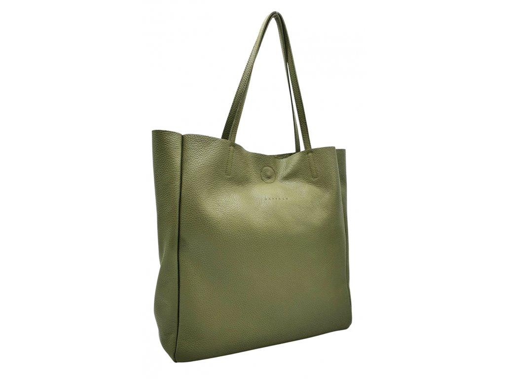 Kožená kabelka přes rameno Marly olivová