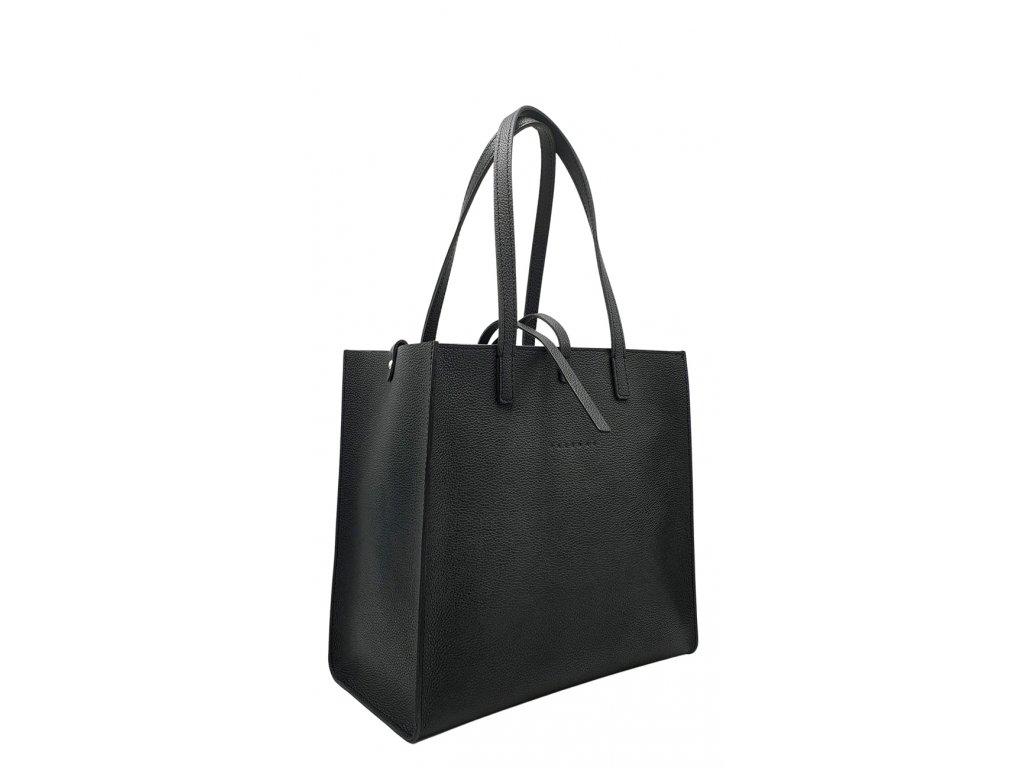 Kožená kabelka 3v1 NANCY černá oboustranná