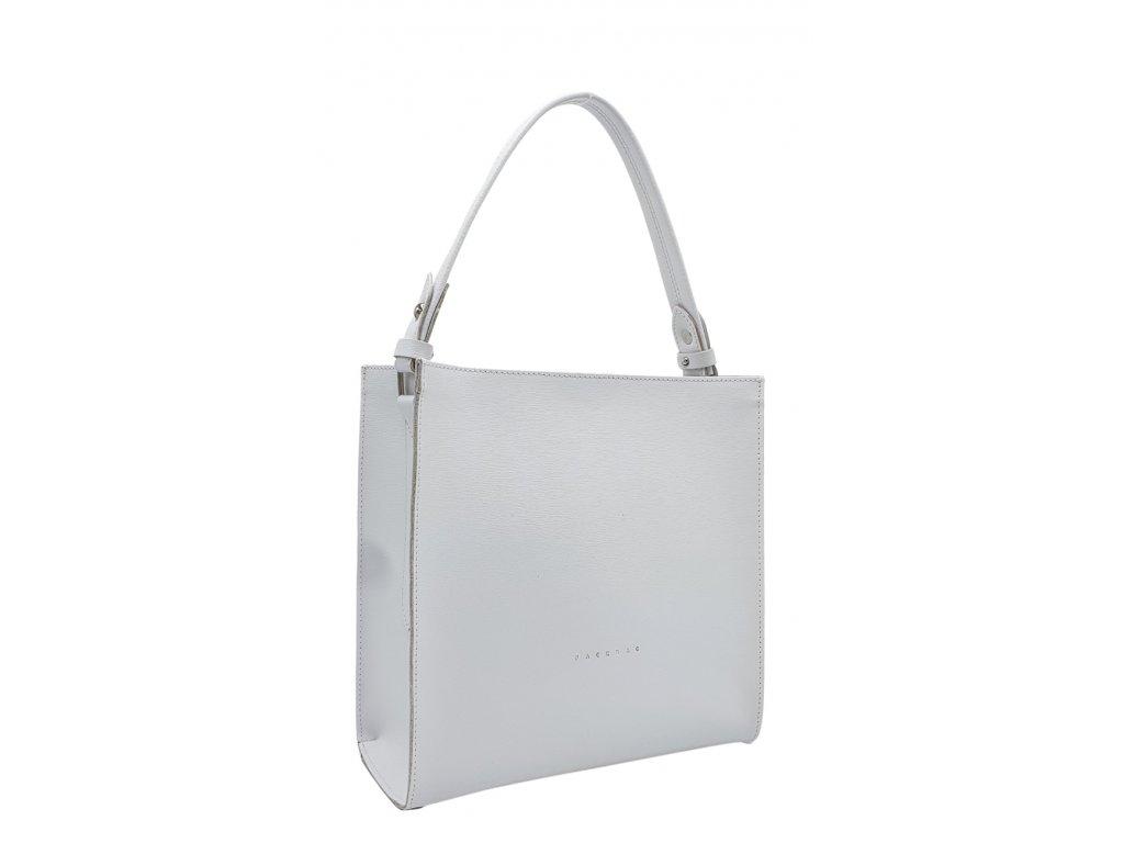 Kožená kabelka Ange bílá oboustranná