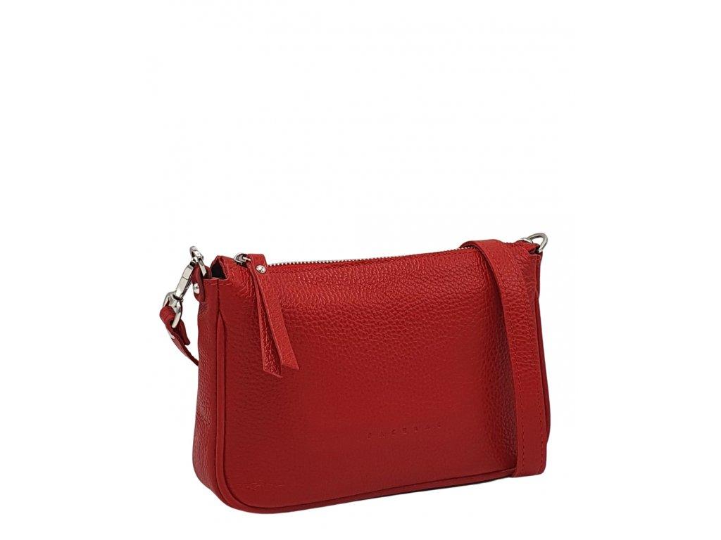 Kožená kabelka GIADA červená