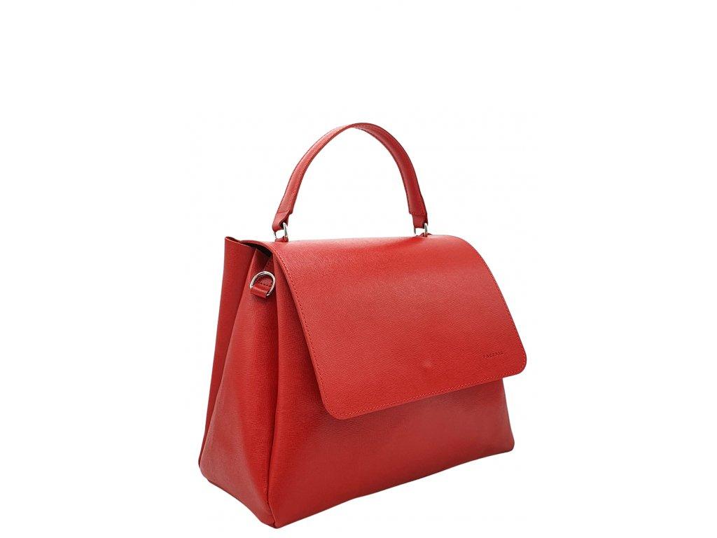 Kožená kabelka Grace červená saffiano