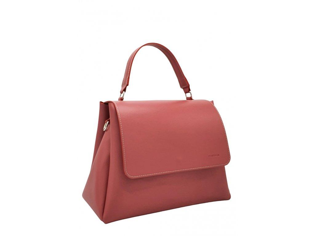 Kožená kabelka Grace liliová