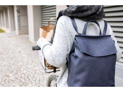 batoh kožený modrý (3)
