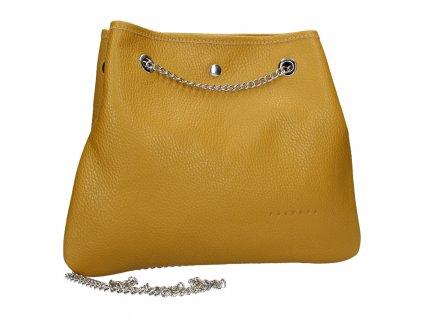 8037 1 10 damska kozena kabelka facebag jade tmava zluta dolaro 800x800