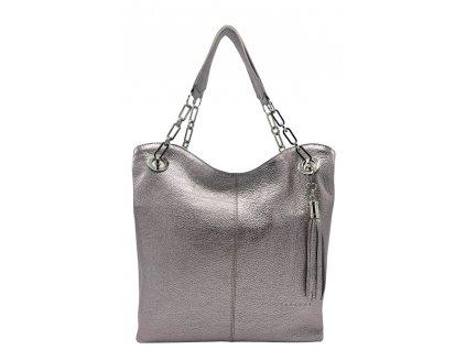 Kožená kabelka Agata černá