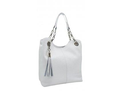 Kožená kabelka Agata bílá
