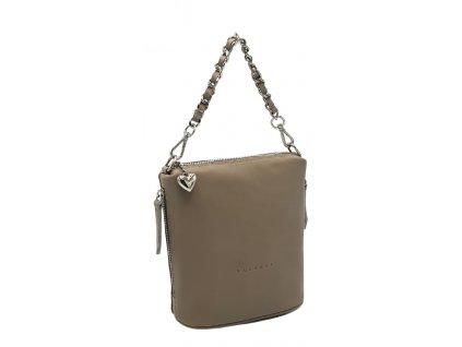 Kožená kabelka s řetízkem pudr (4)