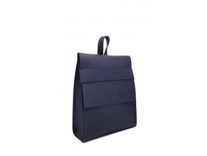 Kožený batoh Sergio malý modrý oboustranný