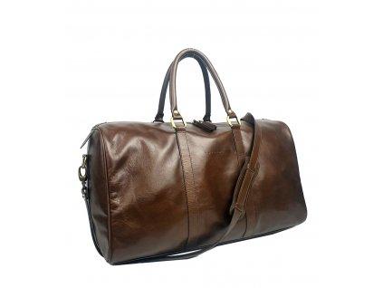 Kožená cestovní taška hnědá (12)