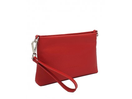 Kožená crossbody kabelka Maxa červená dolaro