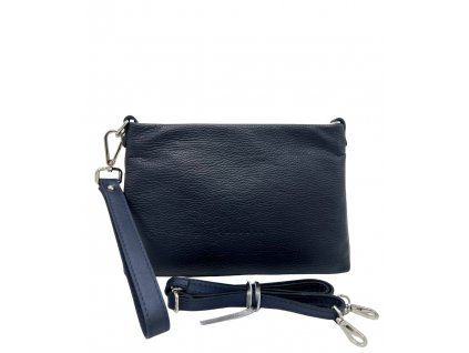 Kožená kabelka přes rameno maxa 8003 modrá dolaro (5)