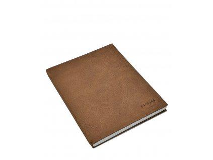 Kožený zápisník velký řerný (2)