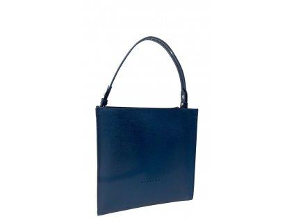 Kožená kabelka do ruky černá saffiano 8016 (4)
