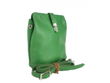6017 damska kozena kabelka facebag anna zelena hladka 1009x1300