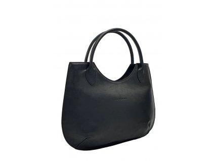 Kožená kabelka Brenda černá hladká