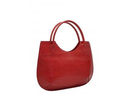 Kožená kabelka Brenda červená