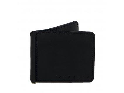 Kožená dolarovka černá (2)