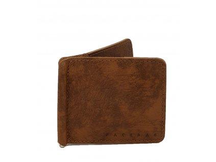 Kožená dolarovka hnědá vintage (4)