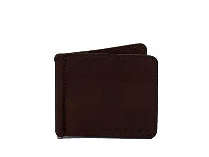 Kožená dolarovka tmavě hnědá (2)