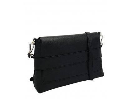 Kožená crossbody kabelka Fille černá dolaro 8073 (4)