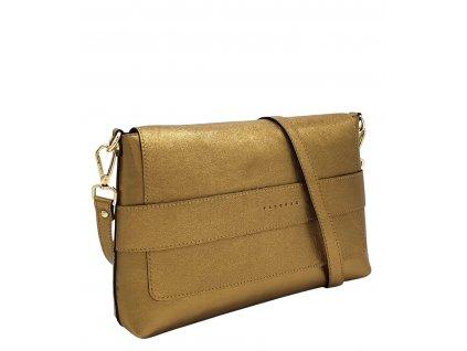 Kožená crossbody kabelka Fille zlatá 8073 (4)
