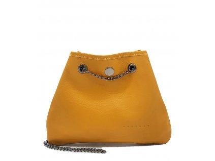Kožená kabelka Jade žlutá hladká
