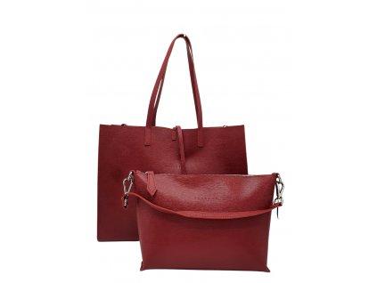 Kožená kabelka červená Cheri 2v1 (1)