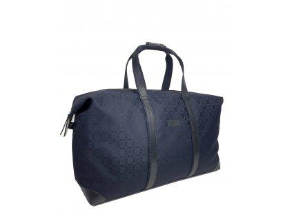 cestovní taška černá se vzorem polokožená (1)