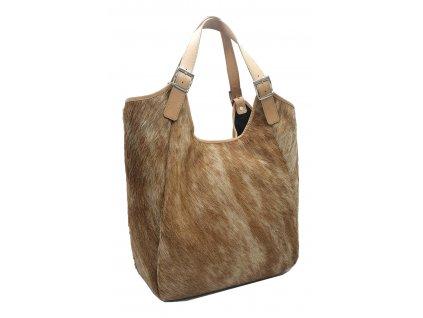 Kožen kabelka se zvířecí srstí přírodní MANA (2)
