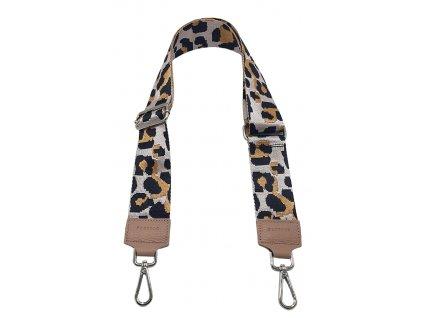 Látkový popruh ke kabelce růžový leopard