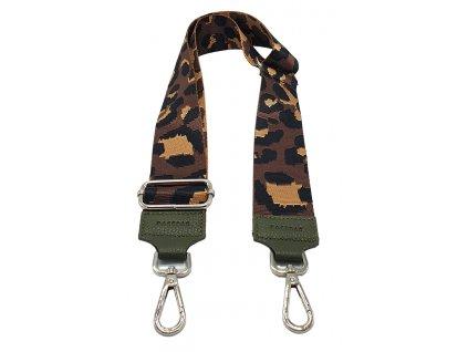 Látkový popruh ke kabelce hnědý leopard