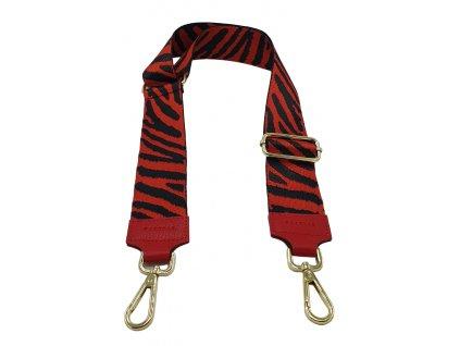 Látkový popruh ke kabelce červený