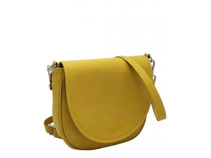 Kožená kabelka Lili žlutá hladká