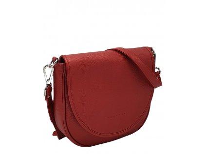 Kožená crossbody kabelka červená metalická Lili (1)