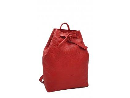 Kožený batoh červený Elma 8008 (5)
