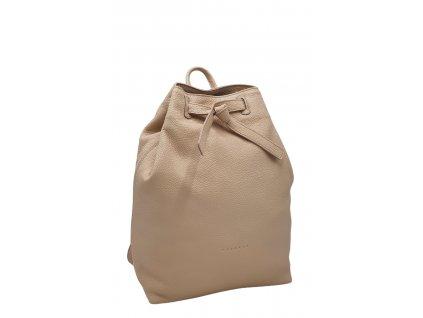 Kožený batoh pudrový Elma (5)