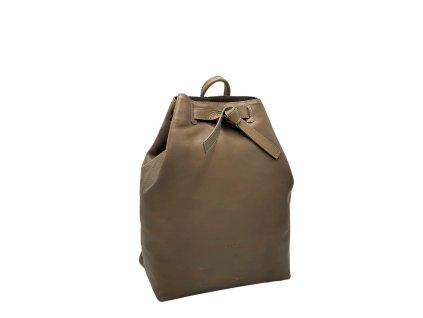 Kožený batoh šedý vintage Elma 8008 (4)