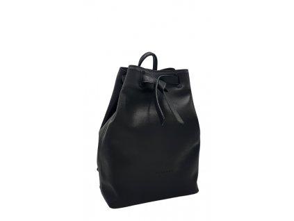 Kožený batoh černý hladký Elma 8008 (2)